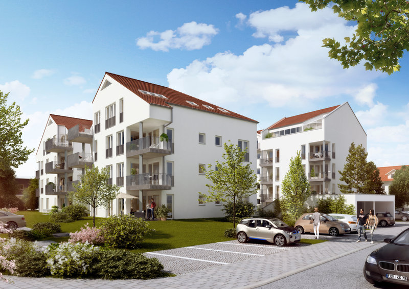 Aktuelles Immobilienprojekt in Poing Außenansicht